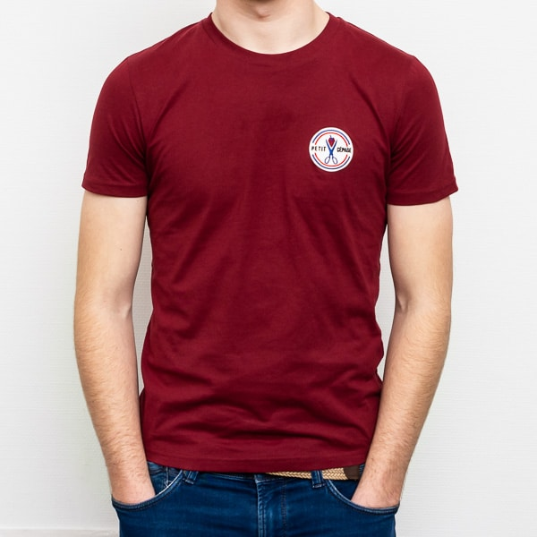 T-shirt Petit Cépage rouge bordeaux